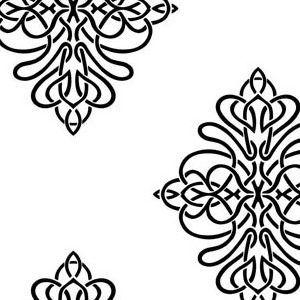 Ribbon Damask